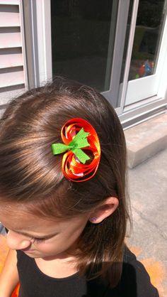 Pumpkin Hair Clip on Etsy, $4.00