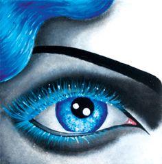 blue lashes by chris O'Leary art of alizarinkryz