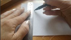 How to grid your fabric for cross stitch and other needlework projects. Don't let big projects scare you, gridding your fabric can really help!