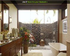 hawaiian style outdoor shower