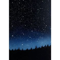 SALE 15% off Night Sky Triptych Oil Painting ❤ liked on Polyvore featuring home, home decor, wall art, backgrounds, pictures and triptych wall art