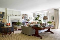 Interior designer Ben Pentreath turns his hand to an Arts and Crafts house - Arts and Crafts house designed by Ben Pentreath Arts And Crafts Interiors, Arts And Crafts Furniture, Arts And Crafts House, Home Crafts, Craft House, Country Style Living Room, Home Living Room, Living Spaces, Cottage Living