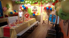 Jump2It Kelowna:  CURIOUS GEORGE themed birthday party