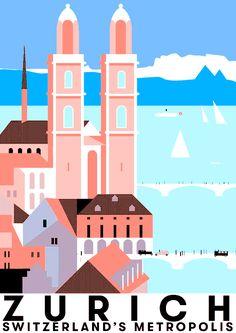 Les affiches suisses de Otto Baumberger en GIF animés – Graphisme & interactivité