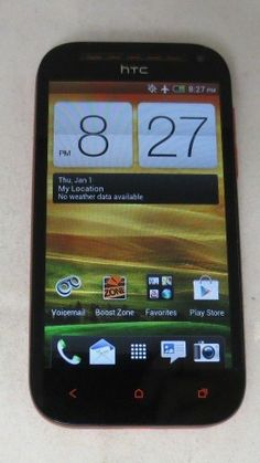 HTC ONE SV Red Cricket Smartphone CLEAN ESN Fair Condition