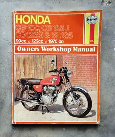 honda cb125 owners workshop service repair manual cb 125 100 cd sl rh pinterest com Honda CB 100 1974 Honda CB 125