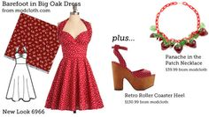 If you love ModCloth, but don't want to spend the money (and can sew or know someone who sews) this site is totally for you!!!! The author has found the perfect pattern and fabric (plus accessories) to make your very own ModCloth based dresses!