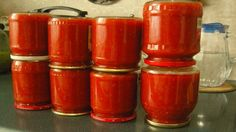 Can wait until planting season! Getting my canning recipes ready! Another canning recipe. Ketchup, Tomato Jam, Pickle Jars, Home Canning, Blue Food, Russian Recipes, Canning Recipes, What To Cook, Hot Sauce Bottles