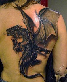 Татуировка 3D Дракон