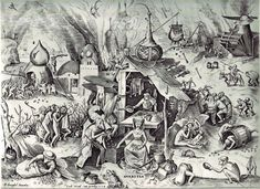 Pieter Bruegel the Elder- The Seven Deadly Sins or the Seven Vices - Avarice