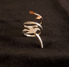 """""""Olive Branch"""" ring by Avital Lang"""
