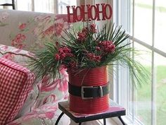 A Santa Claus Can  -  DIY from Sew Many Ways   Really cute idea! by marjorie
