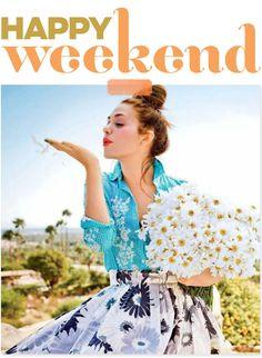 feliz fin de semana, que lo disfruten!