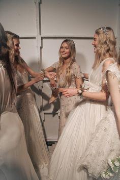 jenny packham bridal spring | karissa fanning #backstage