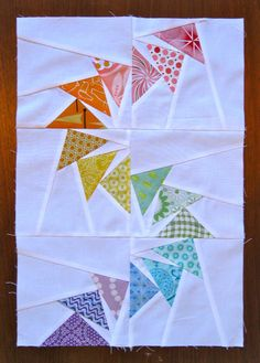 Flying geese curves! Includes templates - Piece and Press: Traveling Quilts - Round 2