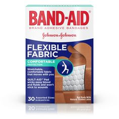 Band-Aid® Brand Flexible Fabric Adhesive Bandages for Minor Wound Care, Assorted Sizes, 30 Count, Multi Natural Rubber Latex, All Band, Wound Care, Pad Design, Band Aid, Flexibility, Adhesive, How To Apply, Technology