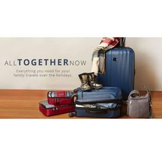 Everything you need for your family travels over the holidays! Choose from 1000's of luggage sets, find the ultimate handbag and select stress-free spinners that make your holiday travel experience extra easy! Shop now!