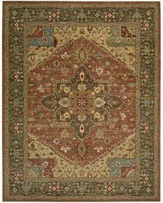 LI01 Rust Orange  Living Treasures Traditional Oriental Rug | On Sale at Floors USA |  Nourison