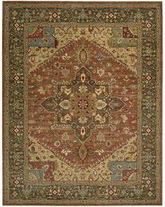 LI01 Rust Orange  Living Treasures Traditional Oriental Rug | On Sale at Floors USA |  Nourison