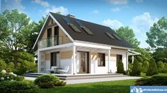 People usually opt for a traditional architecture – buildings that reminds us of our grandparents' house, but which are adapted to the times we live in, of course. So, below we prepared three projects of. Tree Bedroom, Front Verandah, House Front Design, Prefabricated Houses, Loft House, House In The Woods, Traditional House, Future House, House Plans