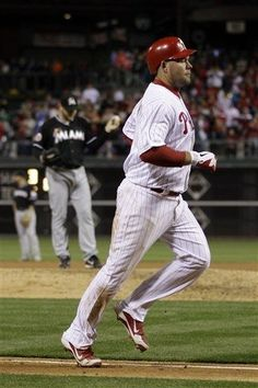 GAME 6, 4/12/12: Ty Wigginton  rounds the bases after hitting home run.