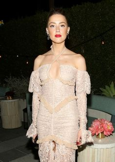 Actress Amber Heard attends the Glamour Women of the Year 2016 Dinner.