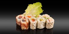 CHIBA - 8 pièces - 8x maki feuille de soja: saumon/avocat, concombre/carotte, avocat/crabe, thon piquant fils de piment Chiba, Bento, Sushi, Ethnic Recipes, Cucumber, Spice, Tuna, Carrot, Sons
