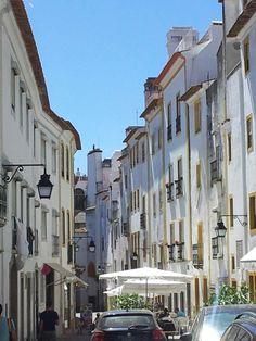 Old street in Évora, Portugal