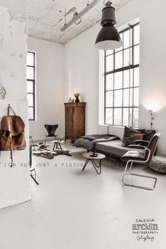 Scandinavisch interieur - industrieel interieur - naturel