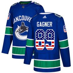 5f9dbeee7 Adidas Canucks  89 Sam Gagner Blue Home Authentic USA Flag Stitched NHL  Jersey Nhl Jerseys