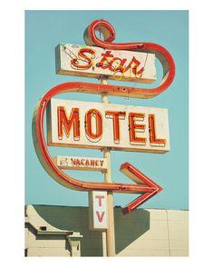 Star Motel Googie Sign print, from Gandolphoto