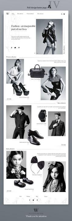 Fashion Website on Behance
