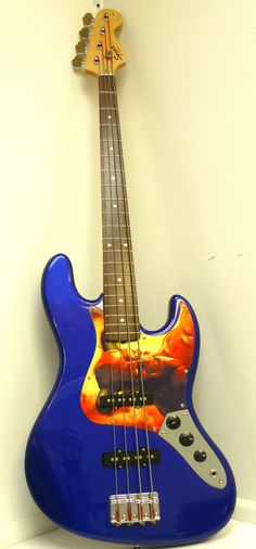 Fender Squire Affinity Jazz Electric Bass Guitar- Electric Blue Right Handed