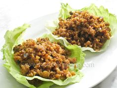 Lettuce Wraps – Chinese Style With Lettuce, Ground Pork, Oysters, Water Chestnuts, Garlic, Ginger, Salt, Sugar, Oyster Sauce, Water, Ground White Pepper, Cooking Wine Wrap Recipes, Pork Recipes, Indian Food Recipes, Asian Recipes, Dinner Recipes, Cooking Recipes, Healthy Recipes, Ethnic Recipes, Chinese Lettuce Wraps