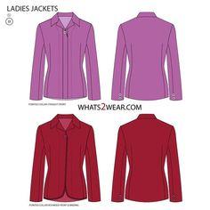 Women's Jacket Fashion Flat Template