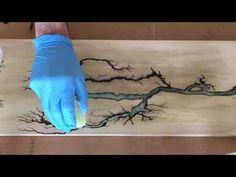 Las impresionantes figuras de Litchtenberg, que puedes ver al quemar madera con 2000 voltios - YouTube