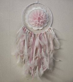 Baby Girl Dreamcatcher Indian Style Lace Flower Vintage