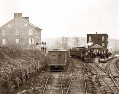Hanover Junction, Pennsylvania Passenger train at depot