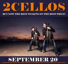 2Cellos in Charlotte at Charlotte Metro Credit Union Amphitheatre at the AvidXchange Music Factory on September 20. More about this event here https://www.facebook.com/events/1337693296283939/