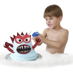 Mr. Bubble Tub Monster by Mr. Bubble. $24.61. From the Manufacturer                Mr. Bubble has continued to be trusted by moms for over 50 years. The Mr. Bubble Bathtub Monsters set lets boys or girls design there very own Monster Creations with Foam Soap and Soft EVA shaped pieces. Pile the Blue Foam Soap onto the Floating Foam Platform and stick in your favorite Monster pieces to create a design all your own. After your Monster is assembled - take the Mr. Bubble Squirt Gu...