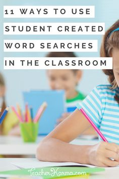 Grab your FREE Student Created Word Search Templates! Use these freebies with vocabulary, spelling words, phonics patterns, and more! Teacher Freebies, Classroom Freebies, Rhyming Words, Spelling Words, Create Word Search, Creative Teaching, Teaching Ideas, Teaching Math, Grammar Lessons