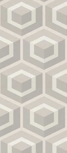 Cole Son - Geometric - Hexagon Wallpaper. Love this for a powder room or accent wall.