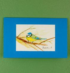 "Hand Painted ""Bird"" Card"
