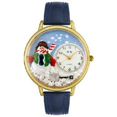 WHIMSICAL WATCHES - Christmas Snowman Watch in Gold - FREE SHIPPING $45.00