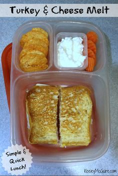 Lunch Made Easy: Simple & Quick - Turkey & Cheese Melt for School