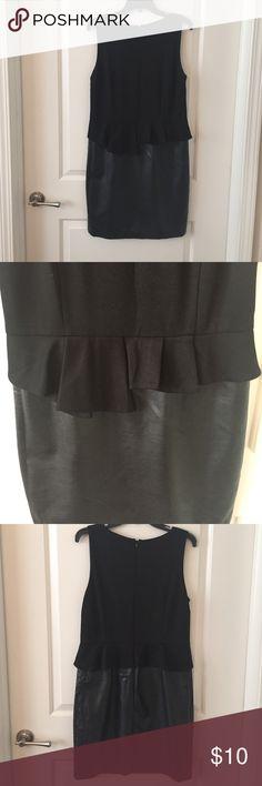 Leather peplum dress Leather peplum dress INC International Concepts Dresses Midi