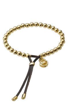 I like the closure of this bracelent - allows for size adjustment // Michael Kors Beaded Stretch Bracelet