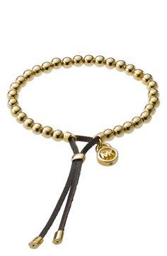 I like the closure of this bracelent - allows for size adjustment // Michael Kors Beaded Stretch Bracelet