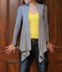 drape front cardigan sewing pattern - Google Search