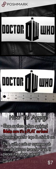 """Doctor Who Tardis Vinyl Decal Sticker •Buy 1 Get 2 FREE Mini Decals🌹